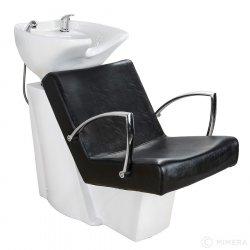 Kadeřnický mycí box SOUL bílé umyvadlo, matná černá