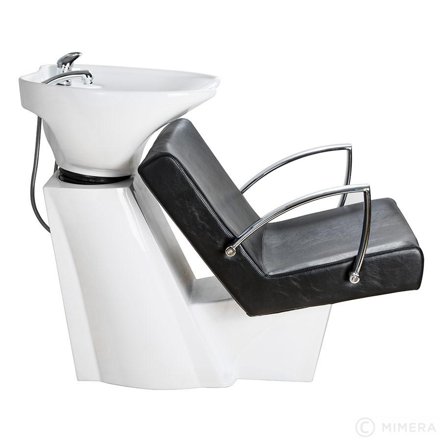 Kadernícky umývací box SOUL biele umývadlo, matná čierna