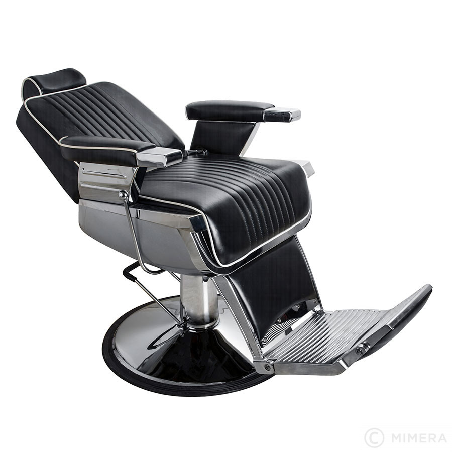 Barber křeslo GRECO matná černá +  Ragnar Galaxy - stříhací strojek a Ragnar Cosmic - konturovací strojek