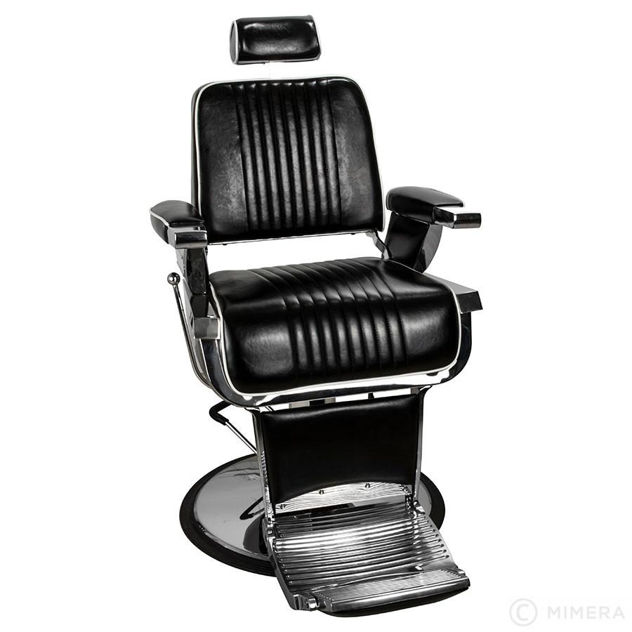 Barber křeslo GRECO lesklá černá +  Ragnar Galaxy - stříhací strojek a Ragnar Cosmic - konturovací strojek