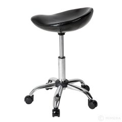 Kadernícka stolička MELVIN lesklá čierna