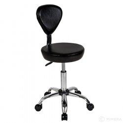 Kadeřnická stolička FINN lesklá černá