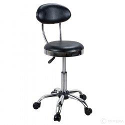 Kadeřnická stolička CAMDEN lesklá černá