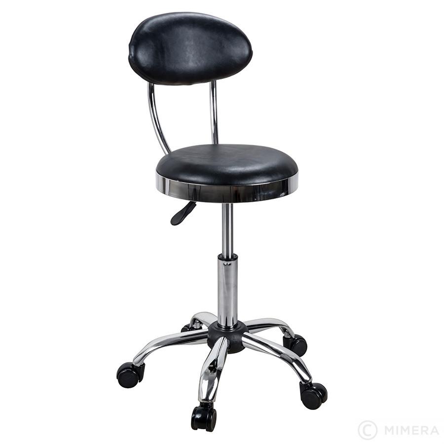 Kadernícka stolička CAMDEN lesklá čierna