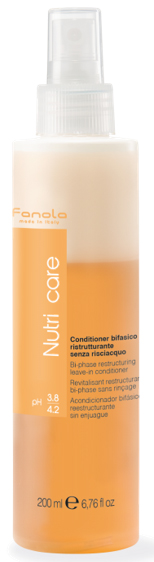 Fanola Nutri care Bi-phase Conditioner - regeneračný 2-fázový kondicionér, 200 ml
