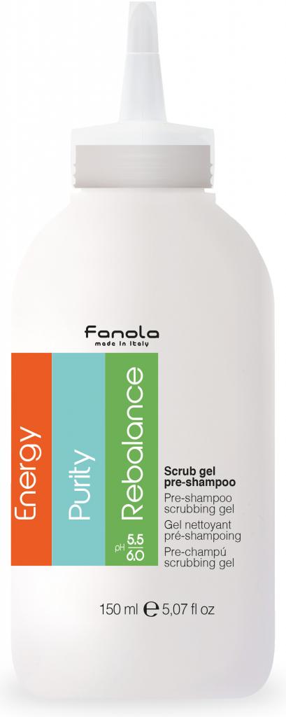 Fanola Scrub gel pre-shampoo - pred šampónový peelingový gél, 150 ml
