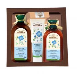 Green Pharmacy Harmanček a Ľanový olej  - balíček na farbené vlasy