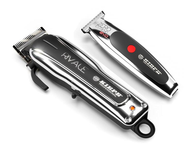Kiepe Silver Pack - profesionální akumulátorový strojek Rival 6315 + akumulátorový konturovací strojek Zero Estremo T Hair EVO Trimmer 6330 + Gembird - stlačený vzduch, 400 ml