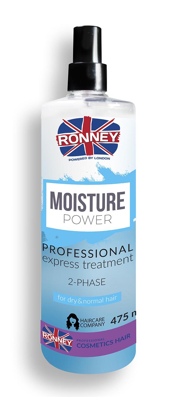 Ronney Professional Moisture Power - 2- fázový hydratační kondicionér, 475 ml