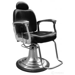 Barber kreslo ARMAN - matné čierne