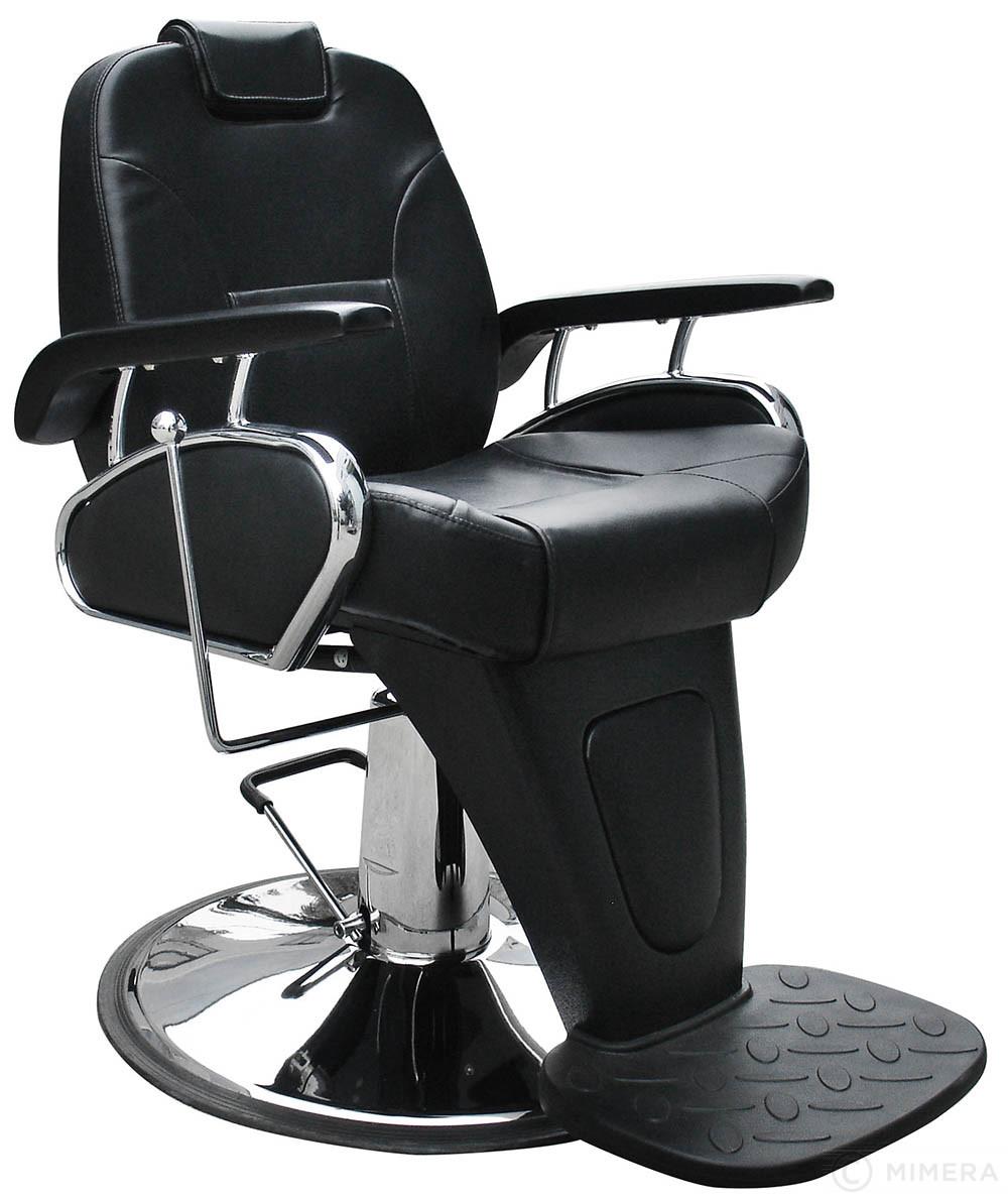 Barber křeslo LEON - matná černá