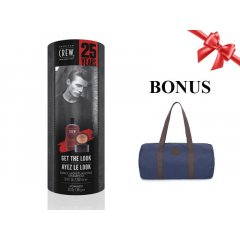 American Crew Get The Look Pomade - sada šampón Daily Moisturizing, 250 ml + pomáda Pomade, 85 g + pánska taška