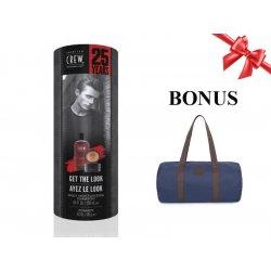 American Crew Get The Look Pomade - sada šampon Daily Moisturizing, 250 ml + pomáda Pomade, 85 g + pánská taška