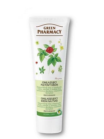 Green Pharmacy - omladzujúci krém na tvár proti vráskam, 100 ml