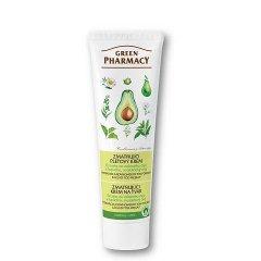Green Pharmacy - zmatňujúci krém na tvár s extraktom zo zeleného čaju, lopúchu a avokáda, 100 ml