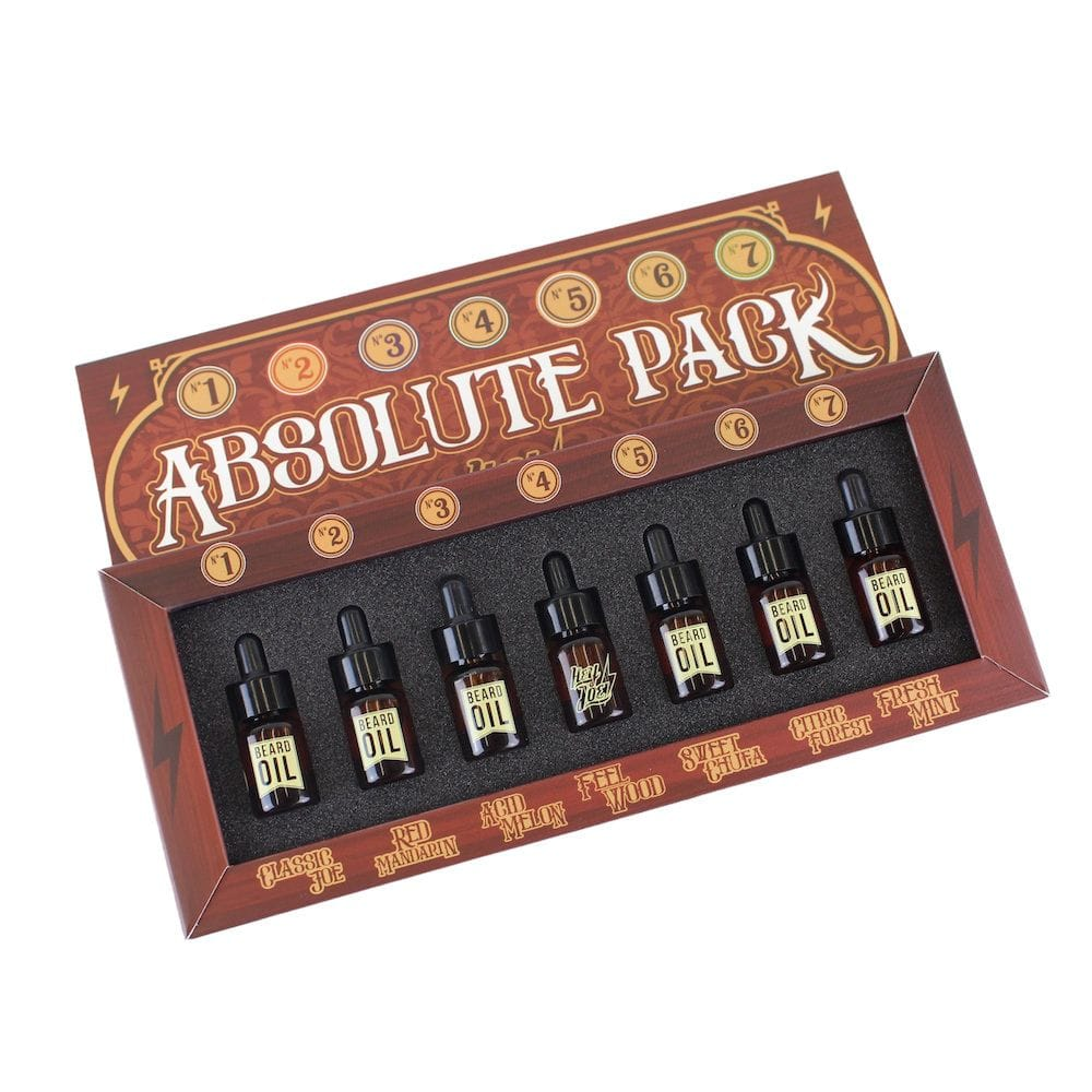 Hey Joe! Absolute pack Beard Oil - kompletní sada olejů na vousy, 7x3ml