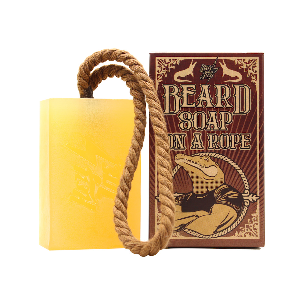 Hey Joe! Beard soap on a rope - šampon na bradu se šňůrkou na zavěšení, 150ml