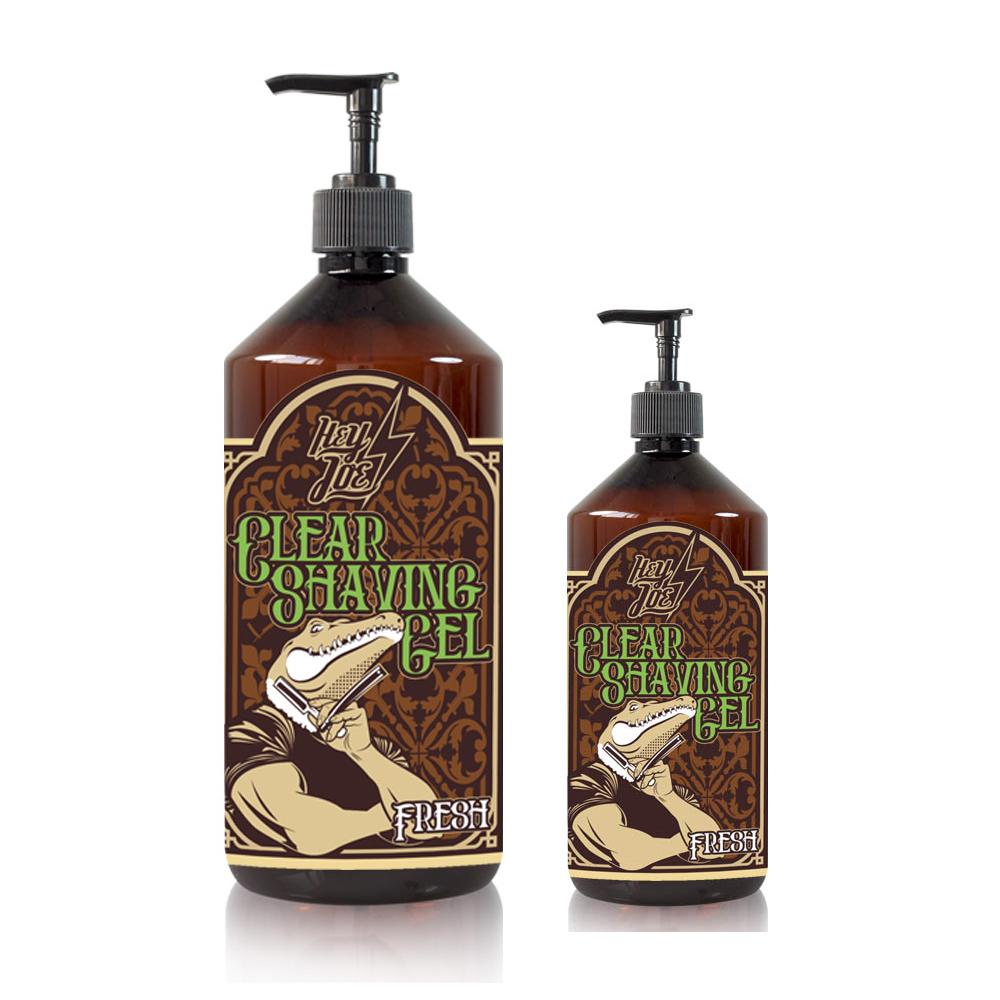 Hey Joe! Clear shaving gel fresh - transparentný eukalyptový gél na holenie s pumpičkou