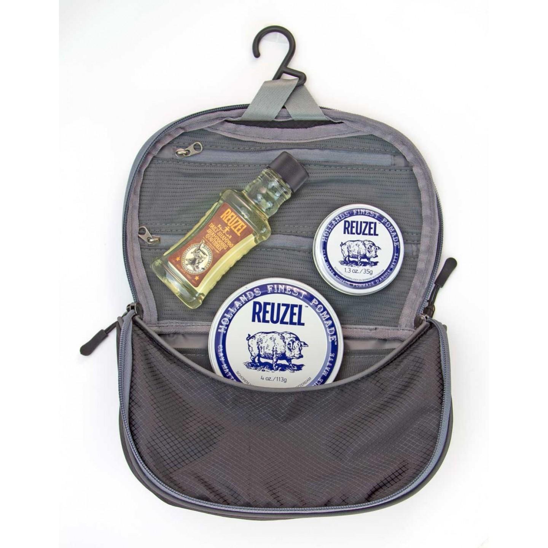 Reuzel Pigs Can Fly Dopp Bag Clay Matte - sada pomáda, 113 g + pomáda, 35 g + Daily šampón, 100 ml + taštička