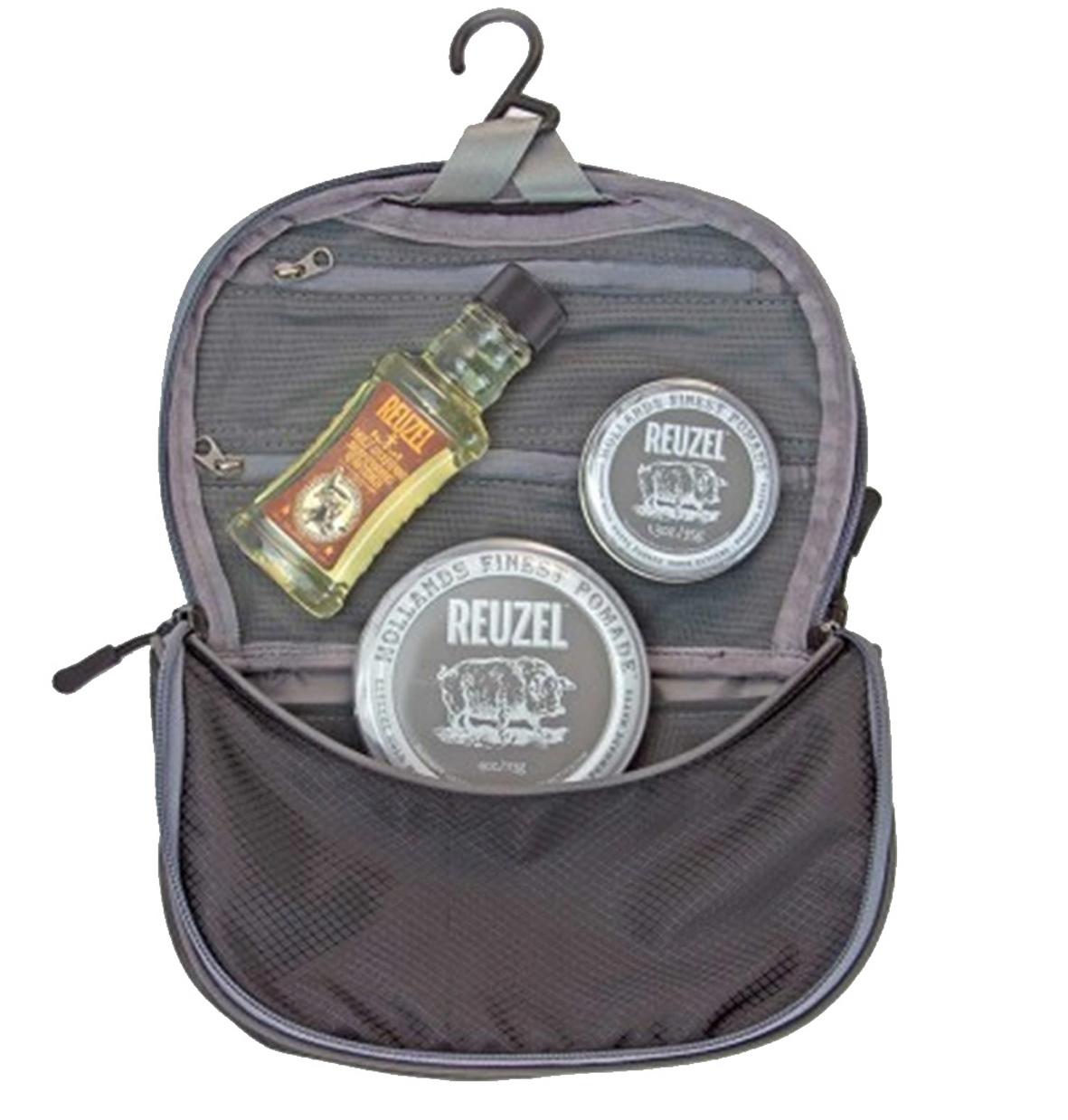 Reuzel Pigs Can Fly Dopp Bag Extreme - sada pomáda, 113 g + pomáda, 35 g + Daily šampón, 100 ml + taštička