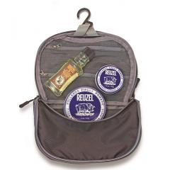 Reuzel Pigs Can Fly Dopp Bag Fiber - sada pomáda, 113 g + pomáda, 35 g + Daily šampon, 100 ml + taštička