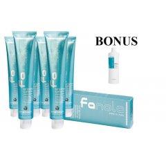 AKCIA: 10 ks Profesionálna farba na vlasy Fanola professional 100 ml + Sensi Care šampón, 1000 ml