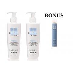 AKCIA: 2x Echosline Twister cream - stredne fixačný krém na tvorbu vĺn, 225 ml + Volumaster lak na vlasy, 500 ml