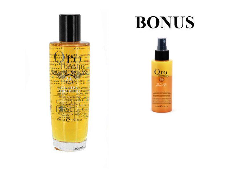 AKCIA: Fanola ORO PURO ELIXIR OIL - olej na vlasy 100 ml + Bi-Phase - 2 - fázový kondicionér na vlasy, 200 ml
