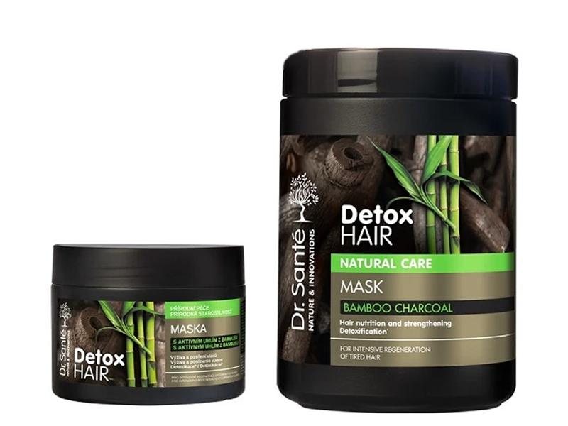 Dr. Santé Detox Hair - maska na vlasy s aktívným uhlím z bambusu