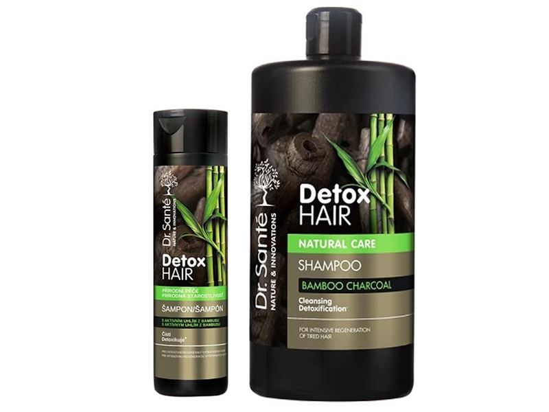 Dr. Santé Detox Hair - šampon na vlasy s aktivním uhlím z bambusu