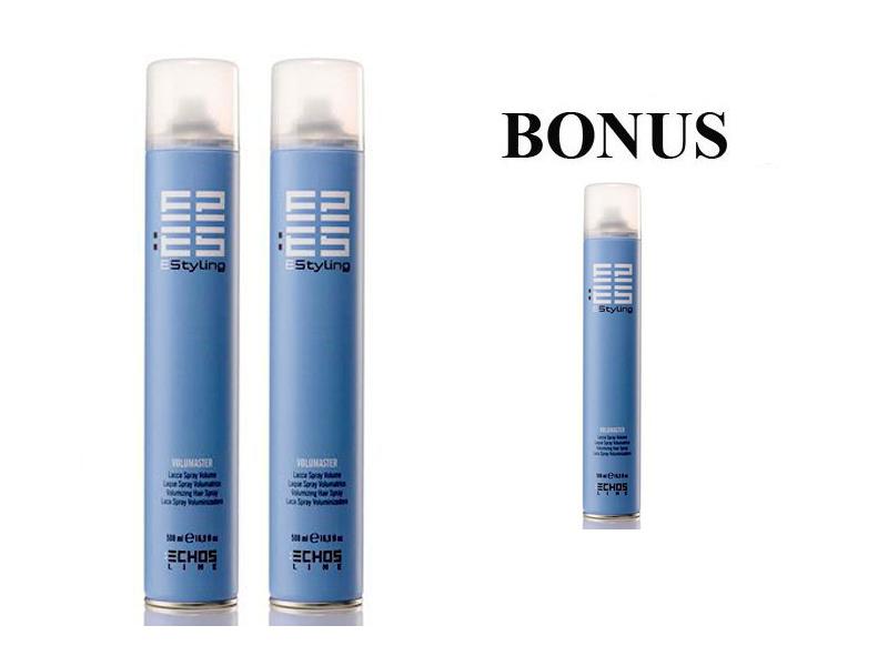 AKCE: 2 + 1 Echosline VOLUMASTER - objemový lak na vlasy, 500 ml