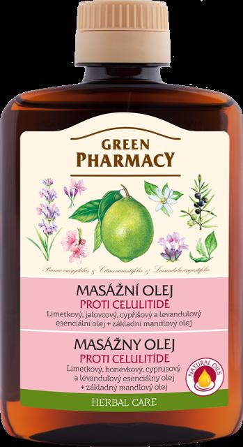 Green Pharmacy - masážní olej proti celulitidě, 200 ml
