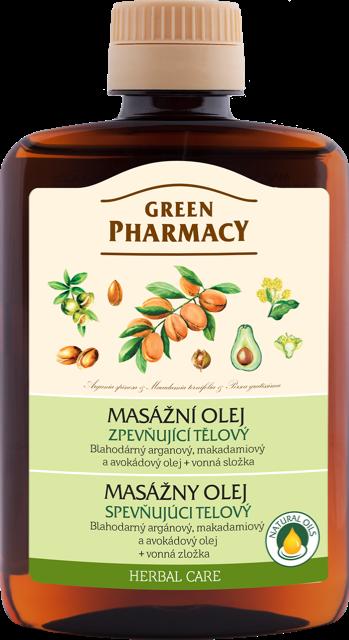 Green Pharmacy - zpevňující tělový masážní olej, 200 ml