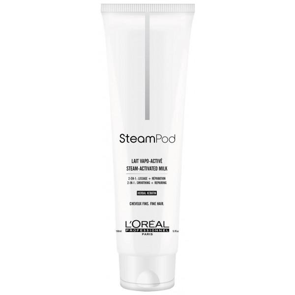 L'Oréal SteamPod Actived Milk Fine Hair - vyplňujúce mlieko pre uhladenie jemných vlasov, 150 ml