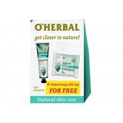 O'Herbal Aloe Vera set 1+1 - krém na ruky ľahké zvlhčenie, 30 ml + mydlo Aloe vera, 100 g
