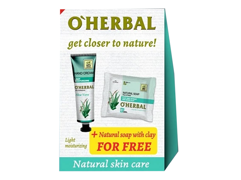 O'Herbal Aloe Vera set 1 + 1 - krém na ruce lehké zvlhčení, 30 ml + mýdlo Aloe vera, 100 g
