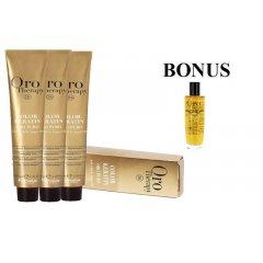 AKCIA: 15 ks Fanola Oro puro - profesionálna bezamoniaková farba na vlasy, 100 ml + Oro Puro olej, 100 ml