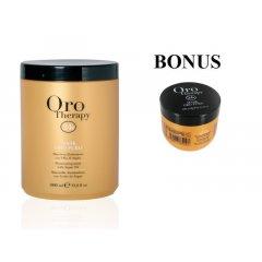 AKCIA: Fanola Oro Therapy mask Oro puro - regeneračná maska na vlasy s 24k zlatom, 1000 ml + maska, 300 ml