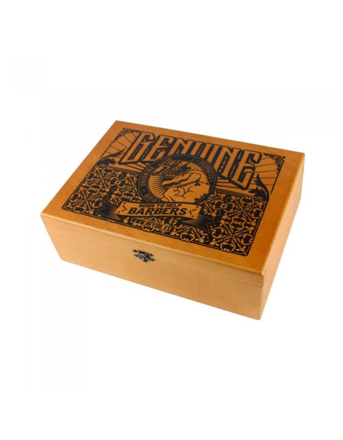 AKCE: Hey Joe! Pomade Box - sada pomád - 5x Pomade strong, 100 ml + 5x Pomade super strong, 100 ml + 5x Pomade matte, 100 ml + dřevěný box