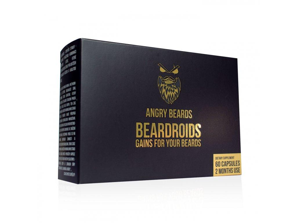 Angry Beards Beardroids - vitamíny na rast brady, 60 ks
