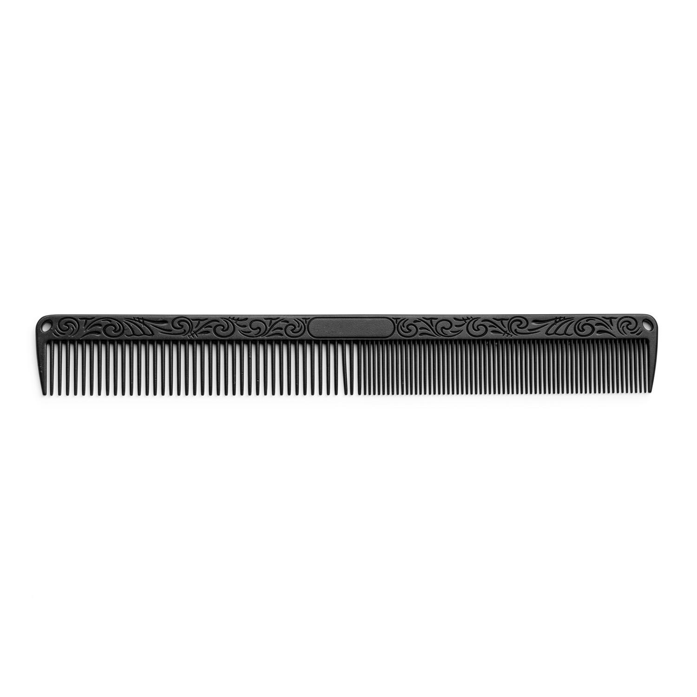 Aluminium comb black 7157 - hliníkový hřeben, černý