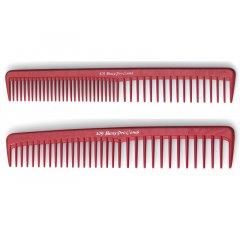 Beuy Pro Comb - kombinované hrebene, červené
