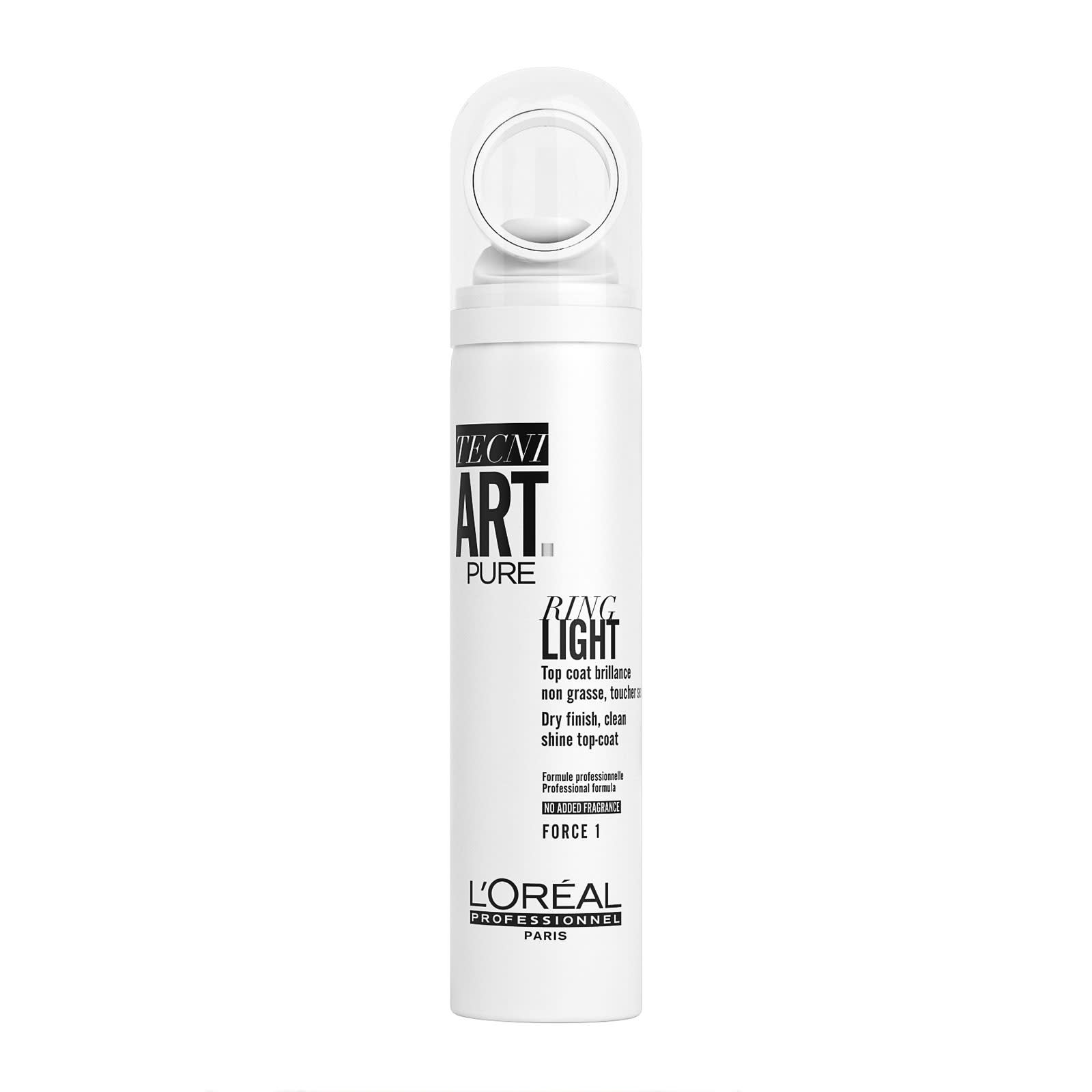 L'Oréal Professionnel Tecni.Art Pure Ring Light Spray - sprej pro ultra-vysoký lesk, 150 ml