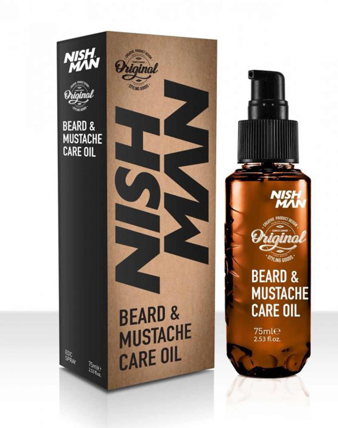 Nishman Beard and Moustache Care Oil - olej na bradu, 75 ml