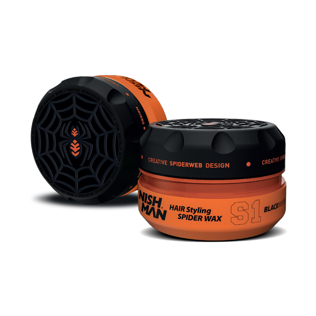 Nishman Hair Styling Spider Wax S1 Black Widow - silný vosk na vlasy, 150 ml