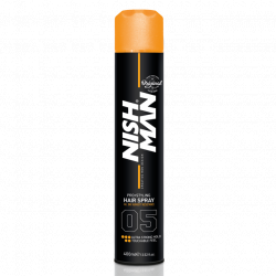 Nishman Hair Styling Strong Hold Spray - lak na vlasy, 400 ml