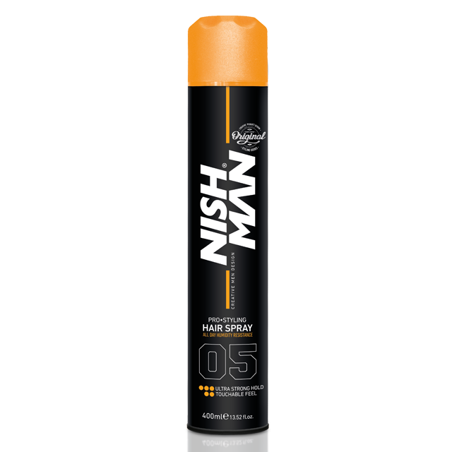 Nishman Hair Styling Strong Hold Spray - lak na vlasy, 400 ml
