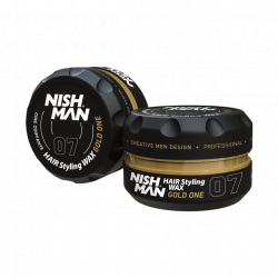 Nishman Hair Styling Wax Gold One 07 - vosk na vlasy s leskom, 150 ml