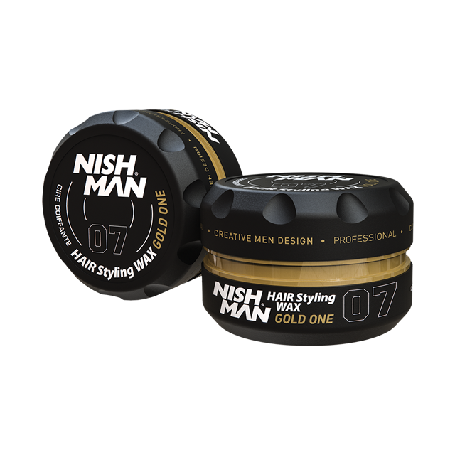 Nishman Hair Styling Wax Gold One 07 - vosk na vlasy s leskem, 150 ml
