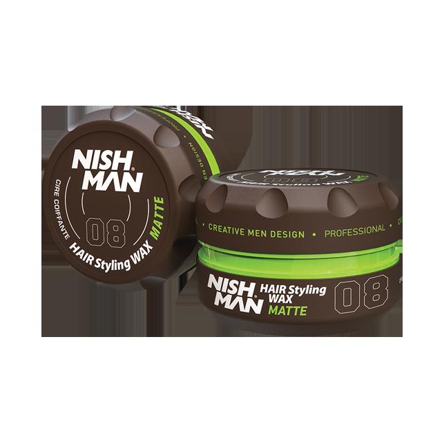 Nishman Hair Styling Wax Matte 08 - matný vosk na vlasy, 150 ml